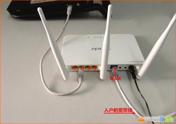 网线入户上网时路由器安装方法