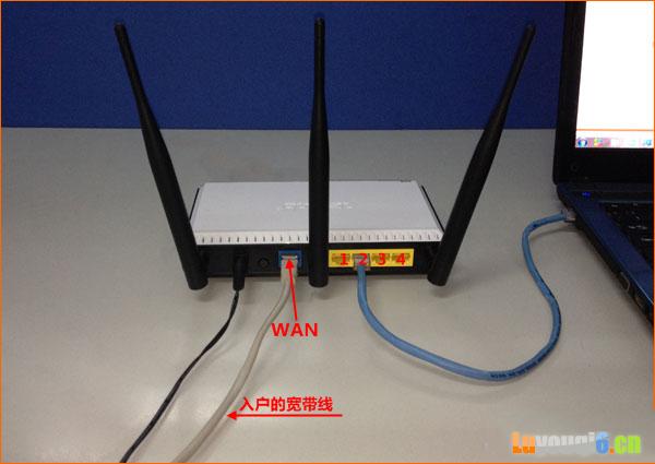 宽带网线接入上网时,路由器正确连接方式